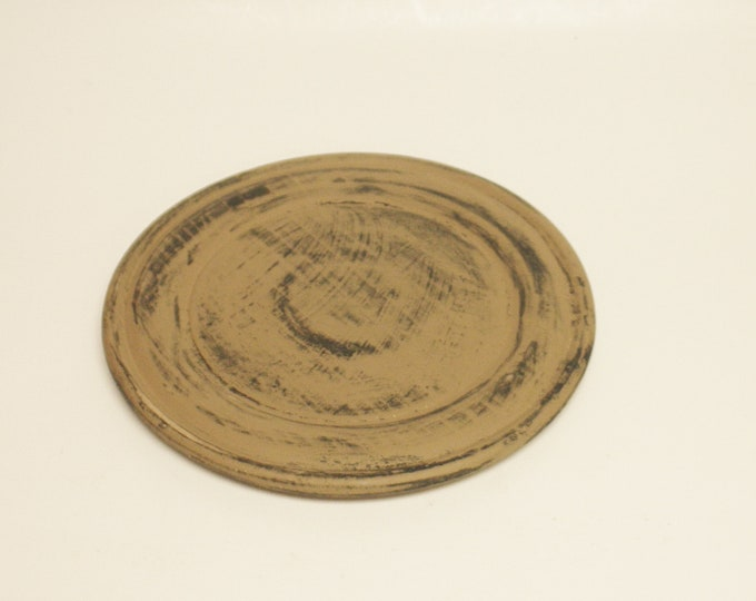 Plate | Primitive Wood Plates | Decorative Painted Plates | Country Farmhouse Kitchen Decor