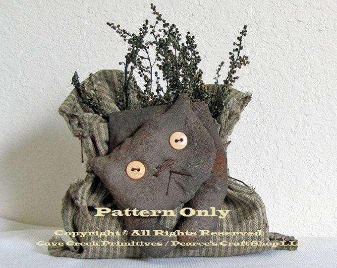 Primitive Cat Pattern | Bagged Flop Cat Pattern | Cat Patterns | CaveCreek Primitives Folkart Patterns