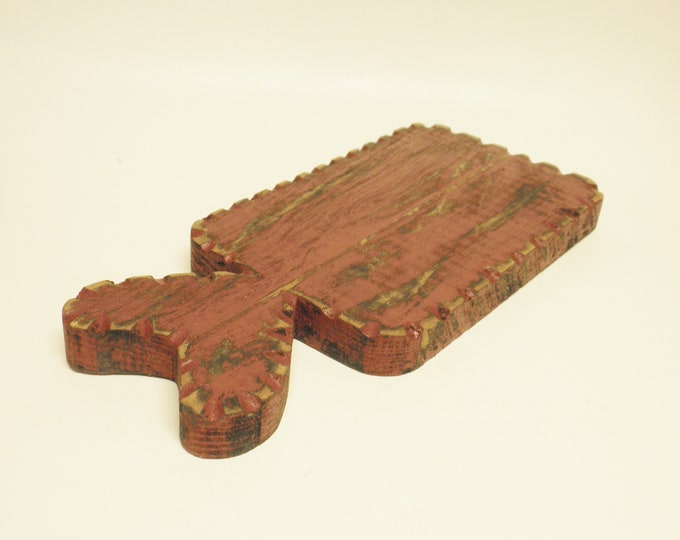 Primitive Punch Needle Board | Decorative Cutting Boards | Table Risers