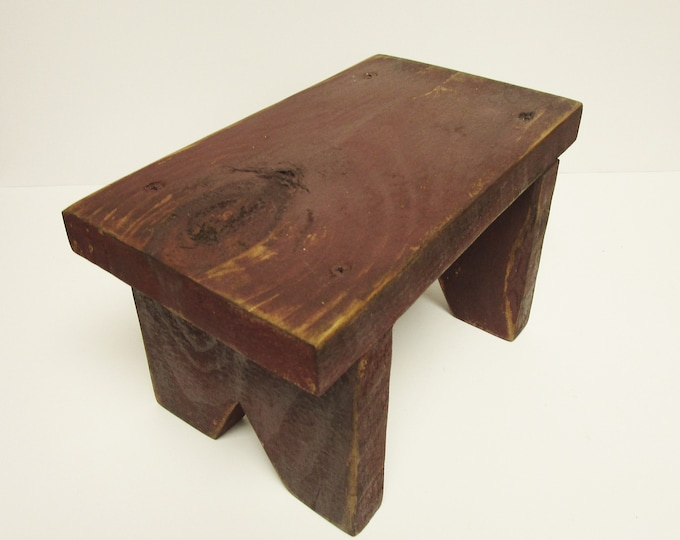 Small Bench Riser, Primitive Table Risers, Rustic Benches, Country Farmhouse Bench