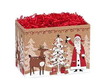 Woodland Santa Gift Box, Christmas Boxes, Theme Boxes, Gift Basket Boxes, Gift Boxes, Decorative Boxes