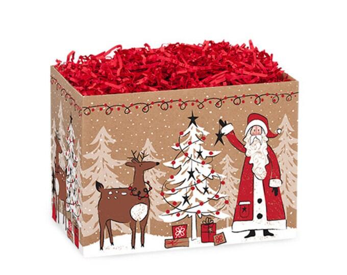 Santa Gift Box | Christmas Gift Boxes | Theme Gift Basket Boxes
