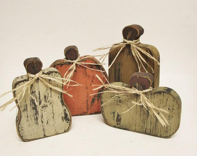 Primitive Pumpkins - Made To Order | Handmade Wood Pumpkins | Fall Halloween Decor