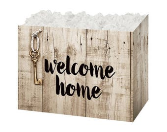 Welcome Home Theme Gift Box, House Warming Gift Packaging, Gift Basket Boxes