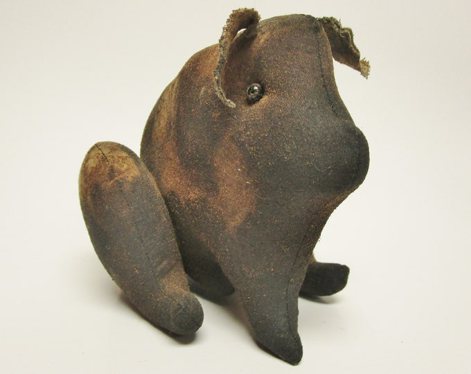 Primitive Sitting Pig with Spots | Primitive Pigs | Handmade Pigs | Country Farmhouse Pig Decor