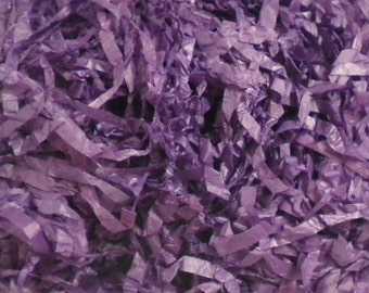 Purple Tissue Paper Shred, Halloween Decor, Primitive Bowl Fillers Decorative Paper