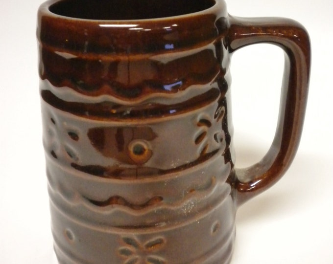 Vintage Mug 1960's Mar-Crest Daisy & Dot Pottery | Decorative Kitchen Accent