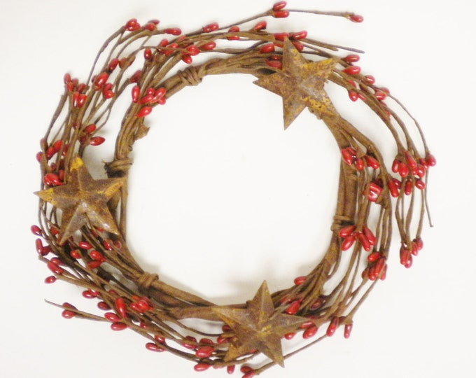 Pip Berry Ring, Candle Rings, Berry Wreaths, Primitive Country Decor