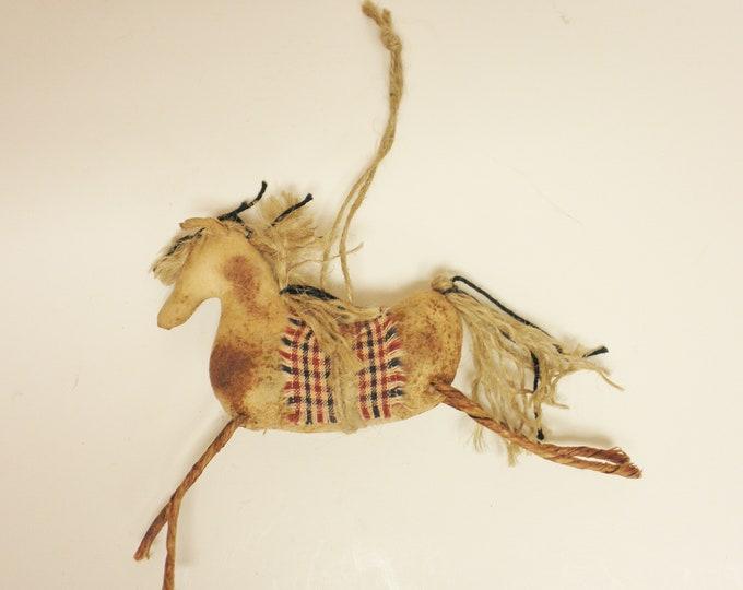 Primitive Horse Ornament | Horse Ornaments | Primitive Ornaments | Handmade Ornaments