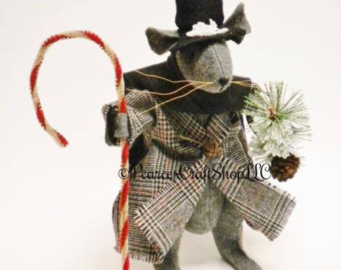 Victorian Christmas Mouse - Made To Order | Primitive Mouse Decorations | Handmade Mice