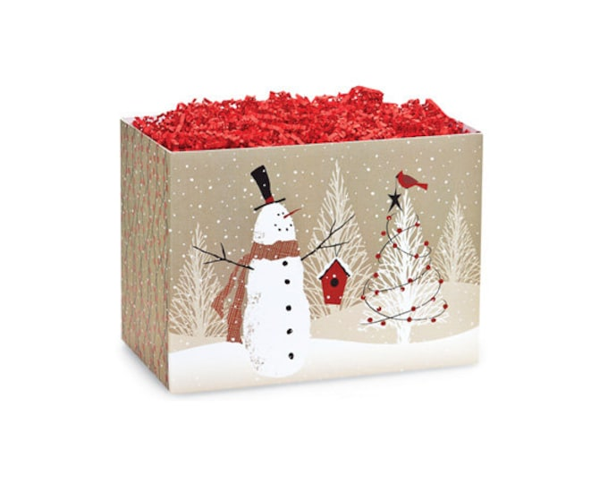 Snowman Gift Box, Christmas Boxes, Holiday Theme Boxes, Winter Gift Basket Boxes