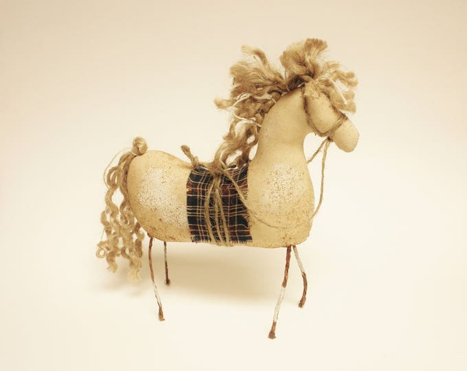 Primitive Pinto Horse | Handmade Horses | Primitive Horses | Horse Decor | Farmhouse Horse Decor | Folk Art Horses