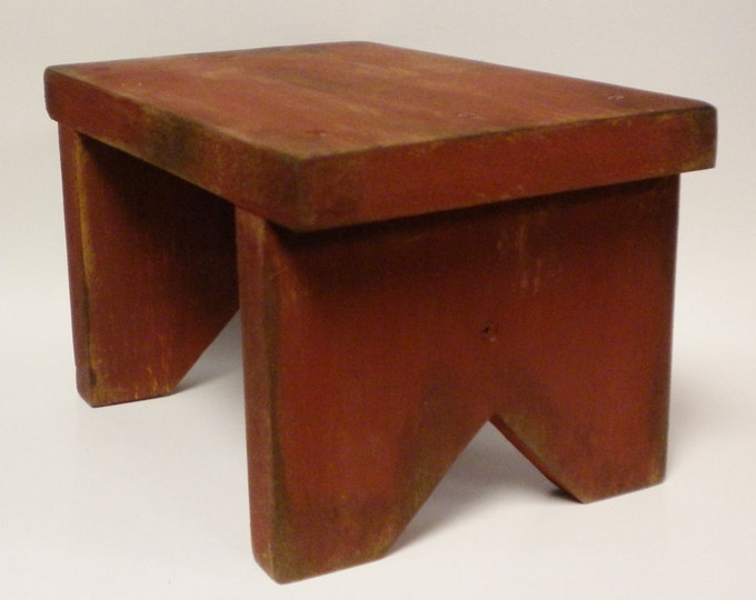 Primitive Bench Riser, Wood Benches, Table Risers, Country Farmhouse Decor
