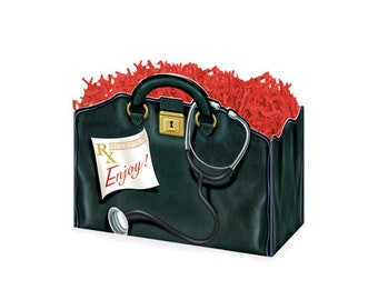 Doctor's Bag Gift Box, Theme Gift Boxes, Get Well Gifts, Gift Packaging, Care Packages, Hospital Care Packages, Recovery Gifts, Gift Baskets