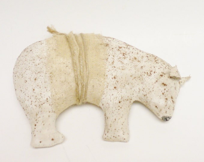 Primitive Polar Bear, Handmade Bears, Christmas Decor