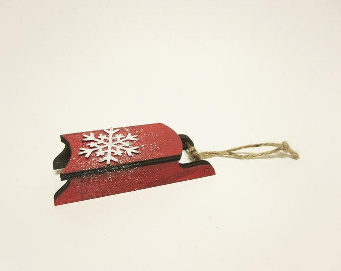 Sled Ornament | Primitive Christmas Ornaments | Miniature Wood Sleds