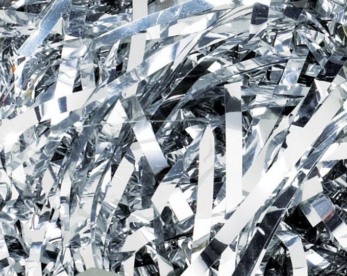 Silver Metallic Shred | Gift Basket Filler | Gift Packaging Shred