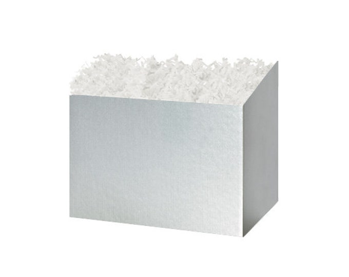 Silver Gift Box   Gift Basket Boxes   Special Occasion Gift Packaging