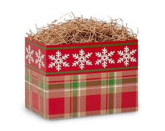 Plaid Snowflake Gift Box, Christmas Boxes, Theme Boxes, Gift Basket Boxes, Gift Boxes, Decorative Boxes