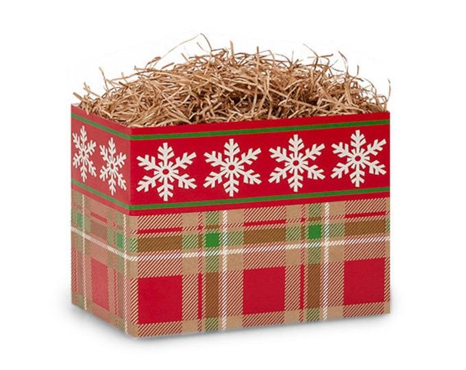 Snowflake Plaid Gift Box | Christmas Gift Boxes | Theme Gift Basket Boxes