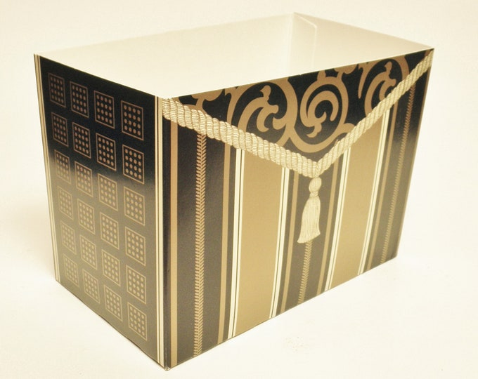 Theme Gift Basket Box   Black and Gold Gift Boxes   Special Occasion Gift Packaging