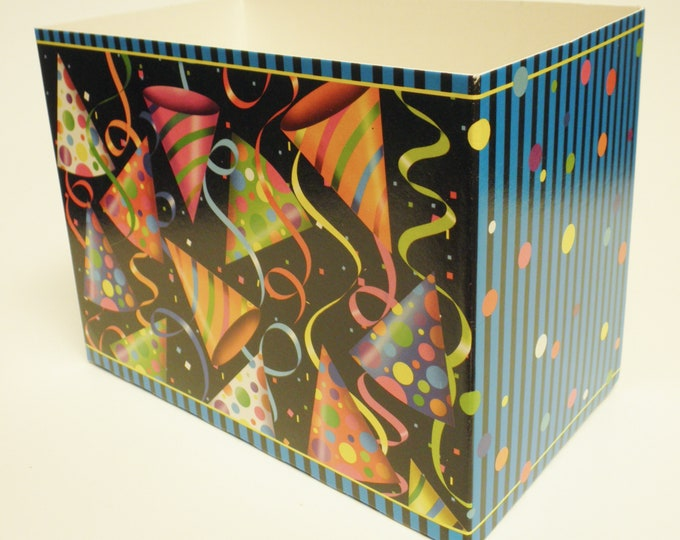 Party Hats Theme Gift Box   Birthday Gift Boxes   Special Occasion Gift Packaging   Gift Basket Boxes
