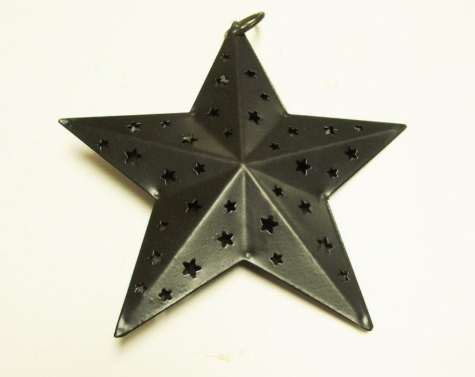 Punch Tin Star Ornament | Primitive Ornaments | Country Farmhouse Accents