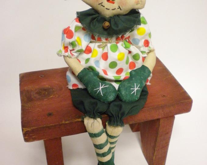 Elf Doll | Handmade Dolls | Christmas Decor | Primitive Dolls