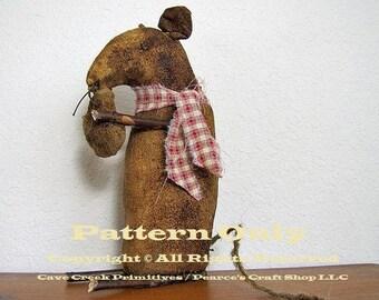 Primitive Mouse Pattern, Mouse Patterns, Primitive Mice, Sewing Patterns, Primitive Animals, Animal Patterns, Extreme Primitives, E-Patterns