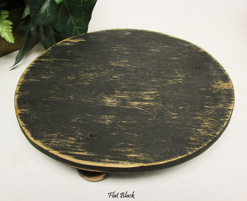 Round Table Riser  Pie Cake Stands  Primitive Risers  Flat Black