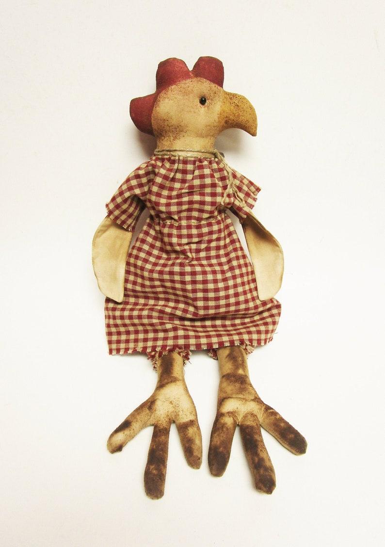 Primitive Chicken Doll  Primitive Dolls  Chicken Dolls  image 0