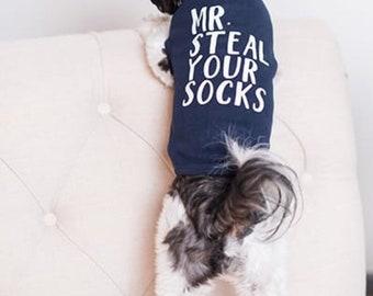 Mr Steal Your Socks Dog Shirt