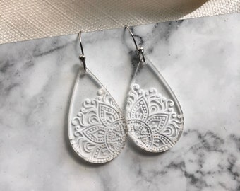 Mandela inspired disc earrings