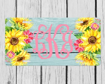 KARCARTAG Sunflower Novelty License Plate Tag Sign Car Accessories