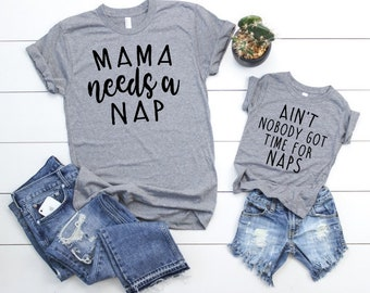 Mama Needs a Nap Set - Mother Son Matching Shirts - Mom and Daughter  Matching Shirts - Mom and Baby Boy Matching - Mother Son T Shirts 19db9a942
