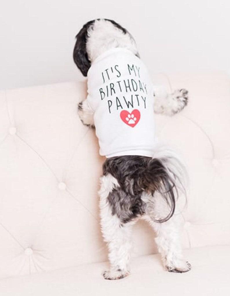 Its My Birthday Party Dog Shirt Tee Apparel
