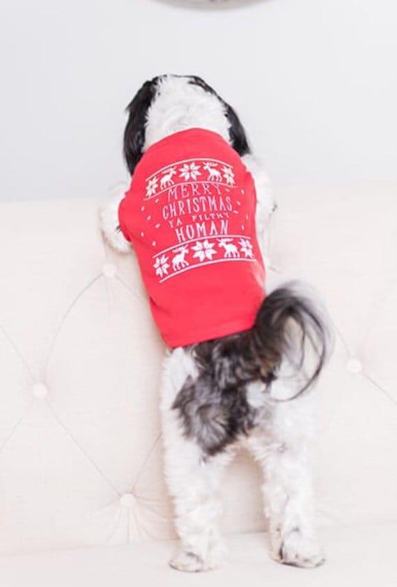 Dog Christmas Sweater.Christmas Dog Shirt Merry Christmas Human Dog Christmas Sweater Ugly Christmas Sweater For Dog Christmas Dog Apparel Pet Owner