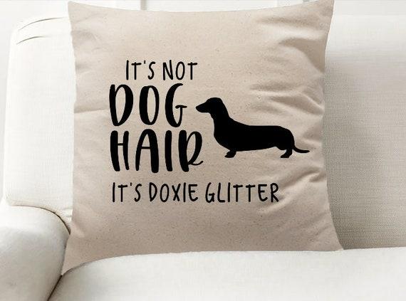 Dachshund Glitter Decor Pillow