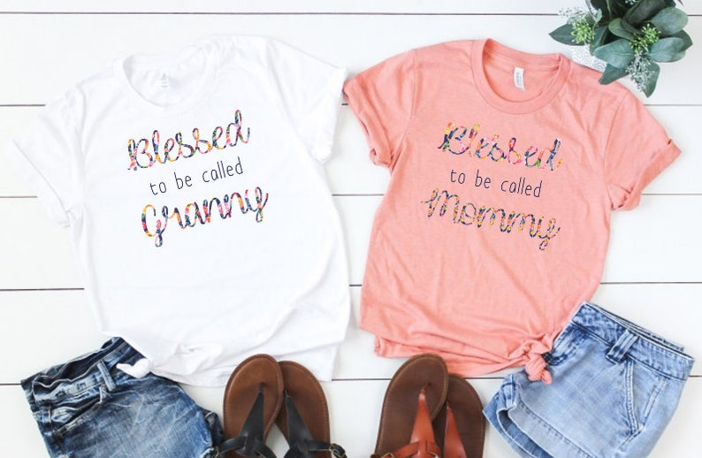 fe1d4e87 Blessed to Be Called Granny Shirt Blessed to be Called Mommy | Etsy