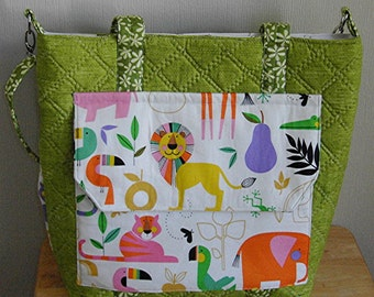 Quilted Diaper Bag, Unisex Diaper Bag, Kentucky Crafted, Handmade One of a Kind
