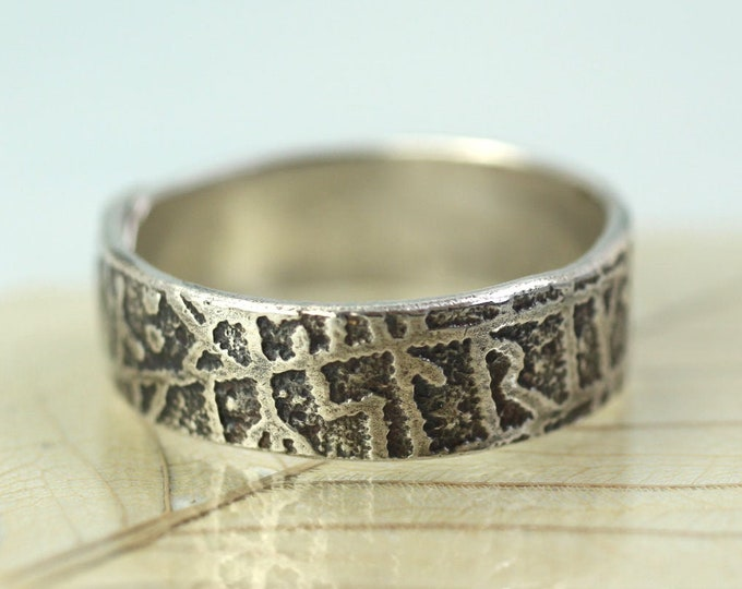 Silver Rune Ring Band With Text from the Kensington rune stone