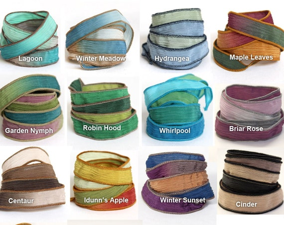 Silk Ribbon Wrap for Bracelet Extra Colours
