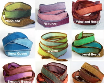 "Silk Ribbon Wrap Bracelet - Extra Colours for Ribbon Bracelet | 42"" Silk Ribbons 