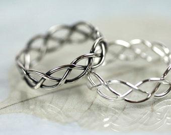 Silver Braid Ring 5 mm
