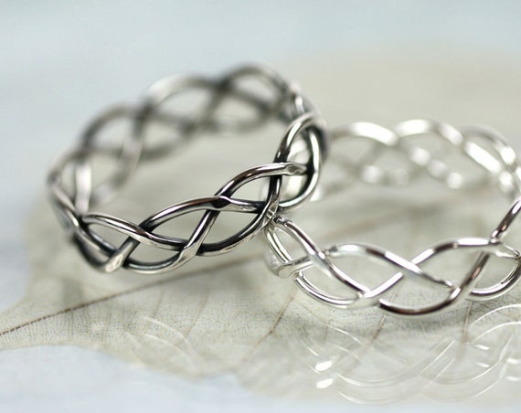 Silver Braid Ring 5 mm