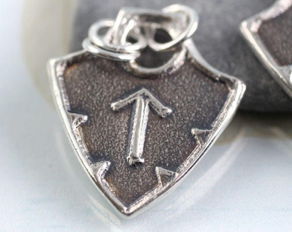 Shield Rune Silver Pendant - Choose Your Rune