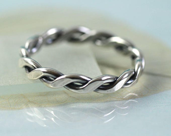 Silver Rope Ring 1.5 mm Wire