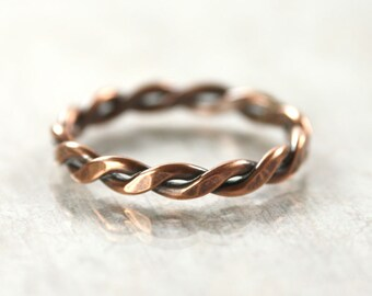 Chunky Copper Twist Ring