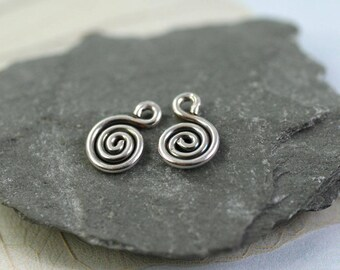 Silver Spiral Dangles Tiny Additions to Silver Sleeper earrings