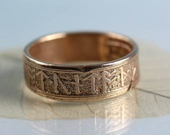 Golden Bronze Rune Ring
